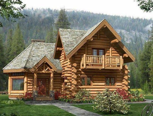 Case Di Tronchi Canadesi : Costruzione di case in legno cantiere di inverno in muratura
