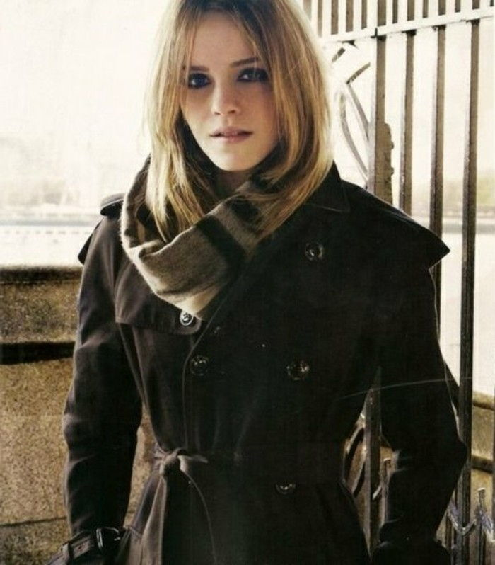 Burberry samling Coat scarf-in matchnings-mörka nyanser