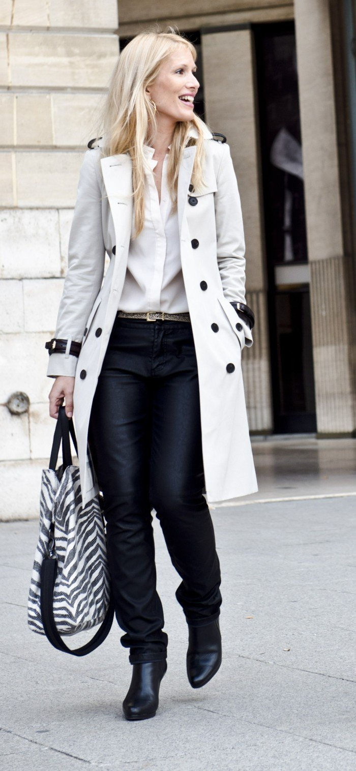Burberry trench coat-by-one-casual look