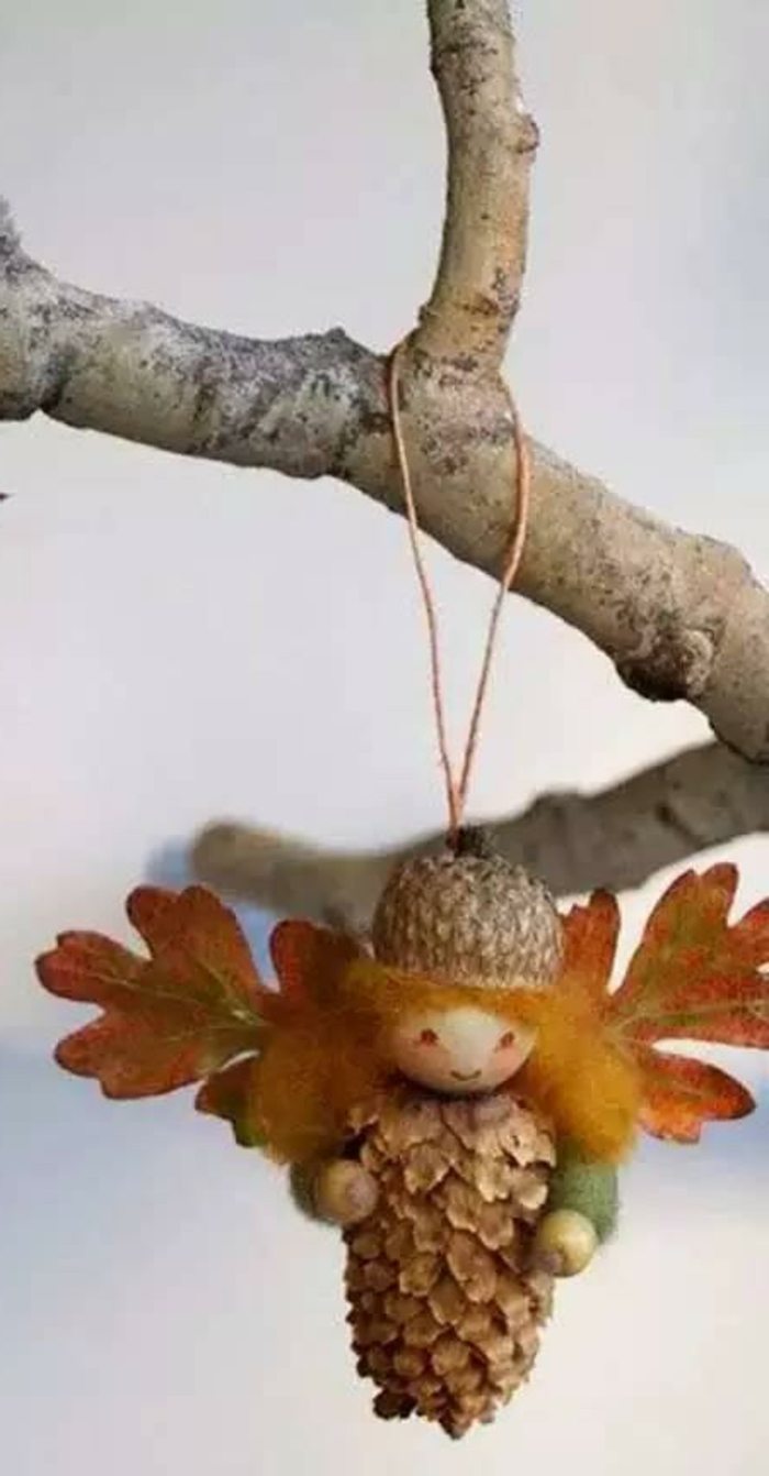 Çam Kozalağından Yapılan Sevimli Figürler