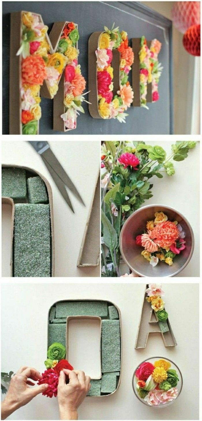 Decorando ideias-para-o-spring-craft-de-flores