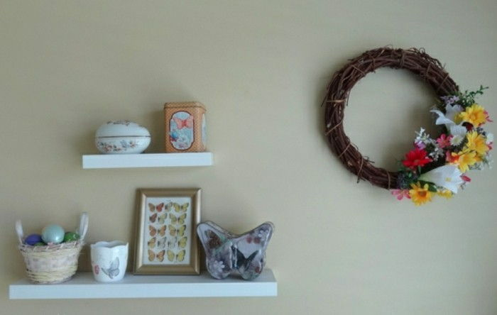 Decorando ideias-para-o-spring-wall-deco-shelf