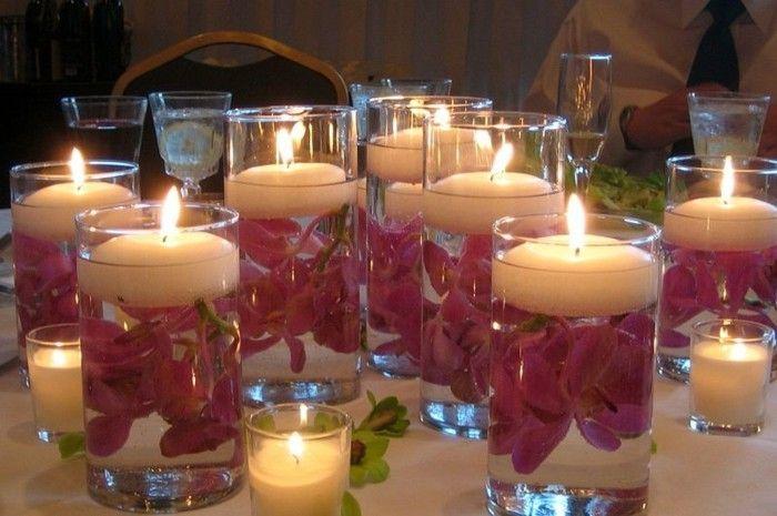Decorare Candele Bianche : Decorazione della tavola con candele u cliché o klasik