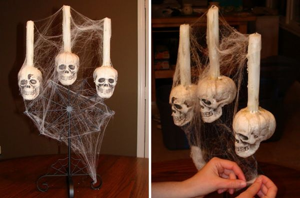 Halloween decorare se stessi, fare Cranio con candela all'interno