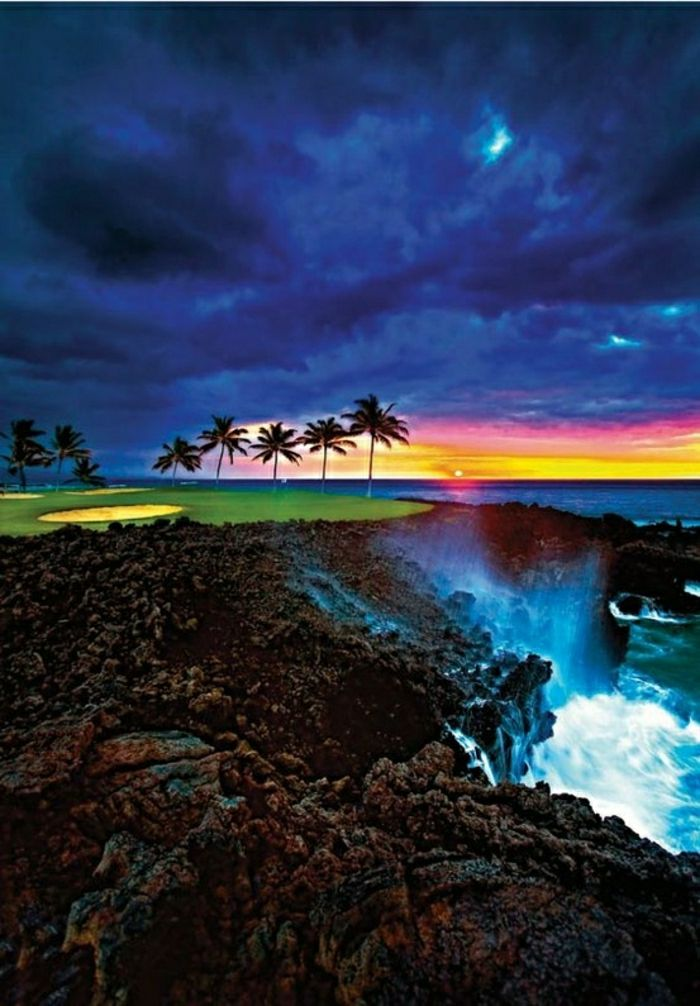 Hilton Waikoloa Village na Big Island Hawaii Waterfall dlane