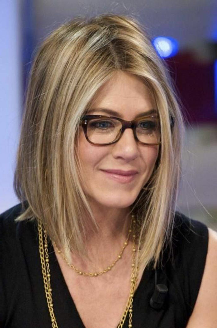 Jennifer Aniston hornbrille model elegant
