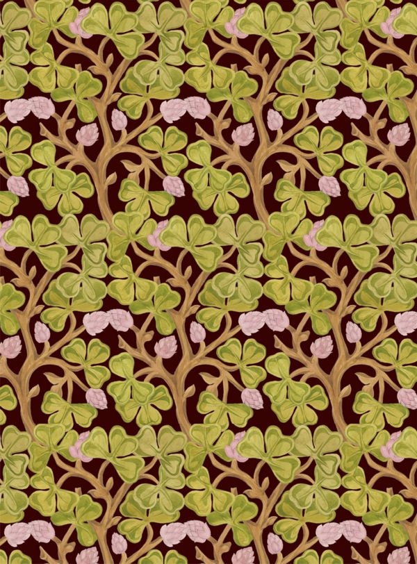 Art Nouveau - ornamenter-maler-floral-for-the-ladies-green-and-pink