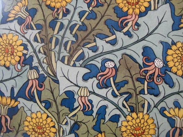 Art Nouveau - ornamenter-maler-for-the-wallpaper-populære mønstre