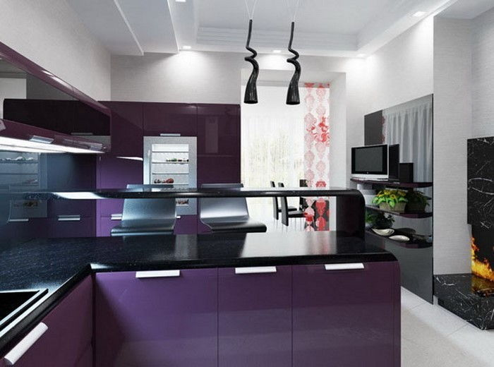 cucina-in-viola-set-a-moderno-decisione