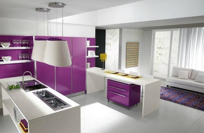 cucina-in-viola-set-a-incredibile-decoration