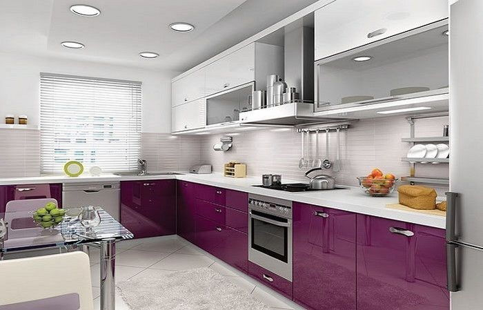 cucina-in-viola-set-a-Splendida Decoration