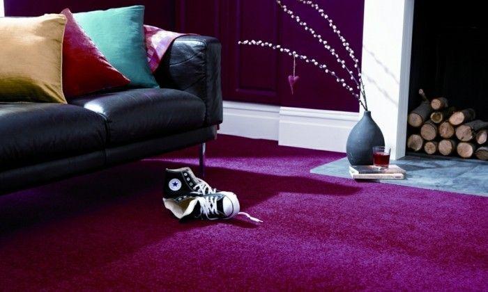 Paarse Decoratie Slaapkamer : 40 ideeën om paarse kamer te versieren