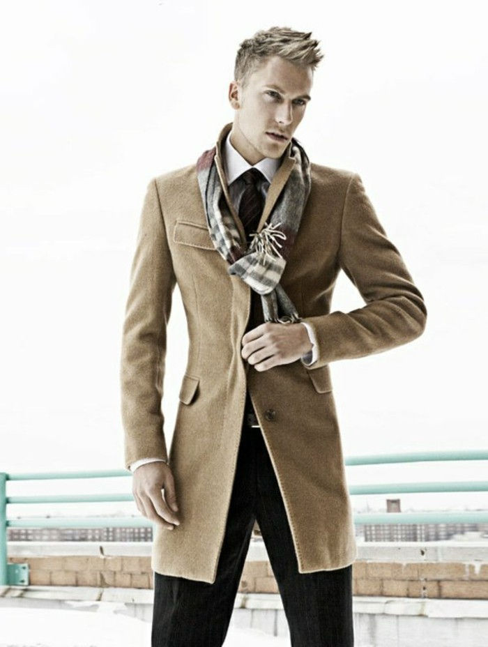 Man med fina Burberry Styling