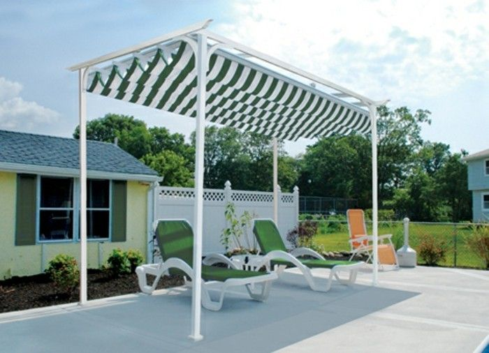 Pergola med markise Rope Tension Sonnensegel-