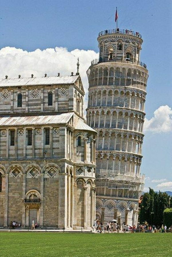 Pisa Cathedral Clock Tower galt