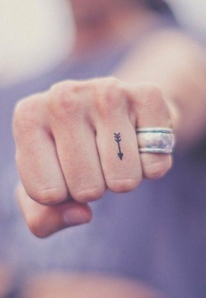 Tattoo Ideas-a-Pfleilen-on-the-vinger