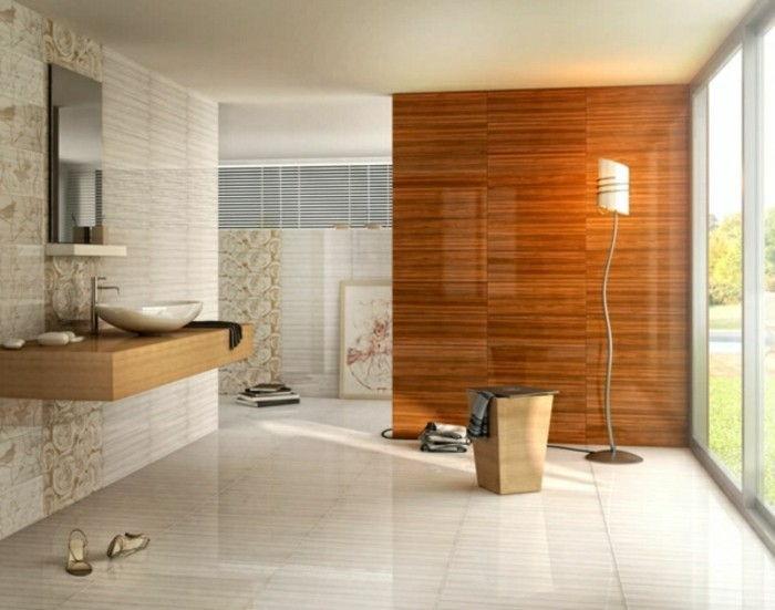 Vanità di legno per più intimità in bagno