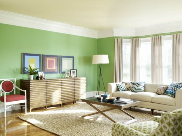 Living-design-perete de design-in-verde