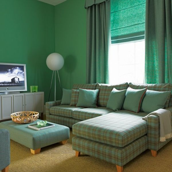 Living-Idea de perete de design-in-verde
