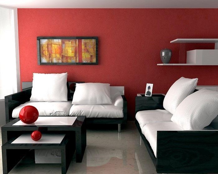 Decoratie Woonkamer Rood : Maak de huiskamer rood unieke woonideeën