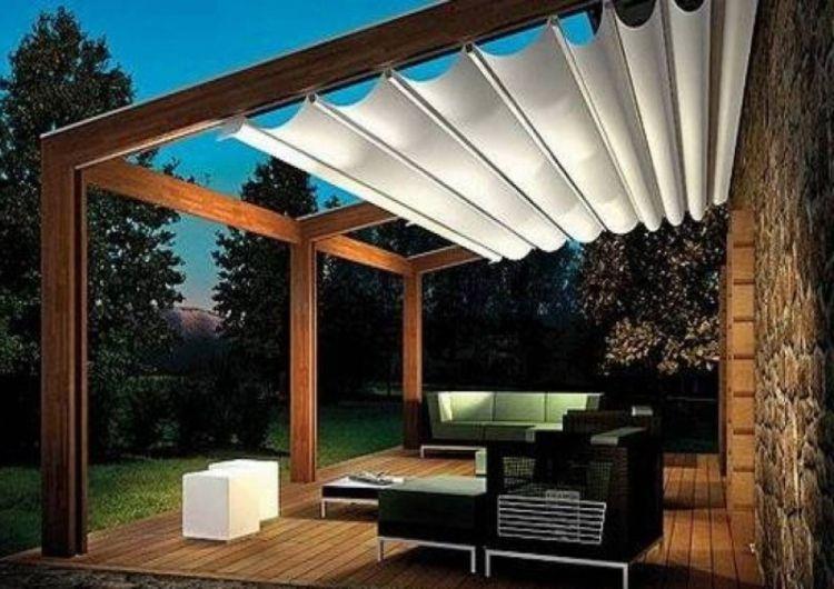 Aluminium lamellen dak overkapping met kantelbare lamellen