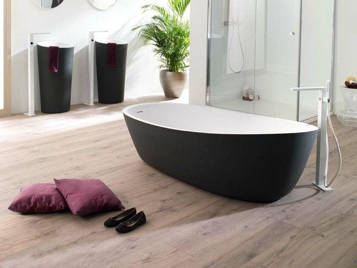 Vloertegels in hout lijken op een geweldige badkamer!