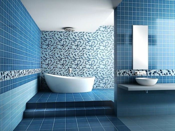 Bagni Blu Mosaico : Design del bagno a mosaico idee