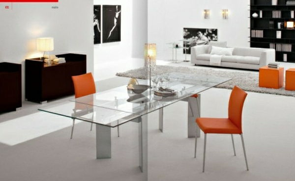 designer glasbord-next-orange-stolar