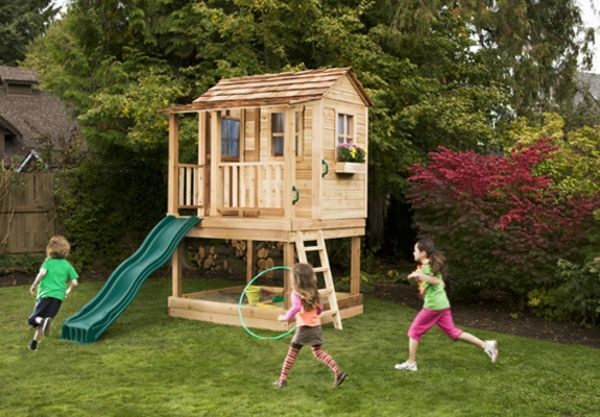 een super-Kinderhaus-play-in-the build-own-tuin-