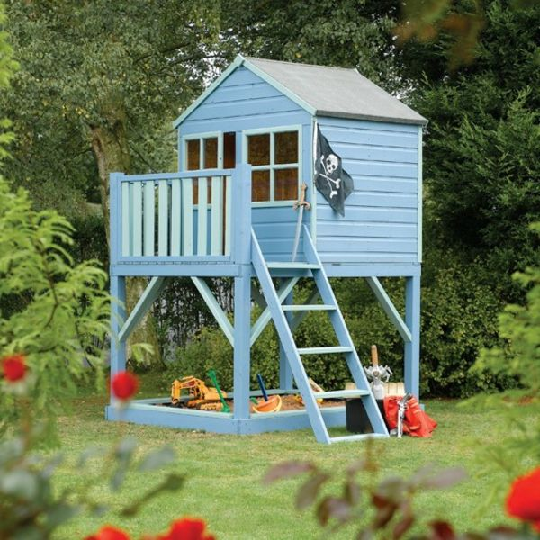 een prachtig kind house-to-play-the-garden-in-blauw