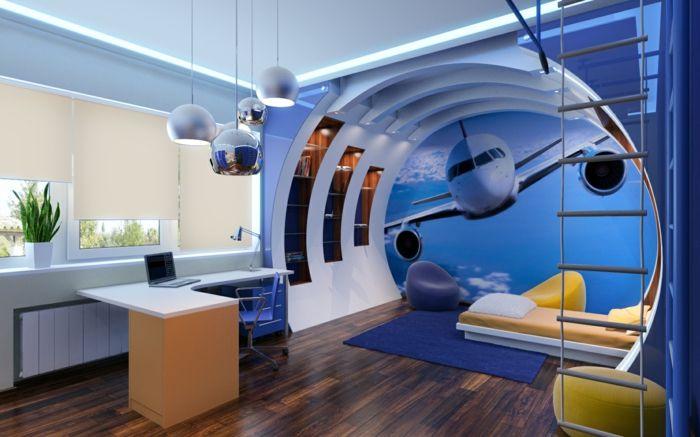 Idéias De Decoração Na Sala Do Avião Jovem Parede Deco Grande Idéia Do  Projeto Lâmpadas