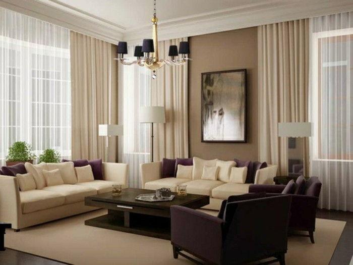 Tende Soggiorno Bianche : Idee per le tende del soggiorno per il tuo appartamento