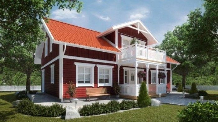 Super Het Amerikaanse houten huis met veranda KU-34