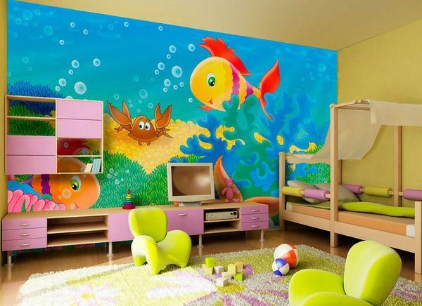 Schilderij kinderkamer u grappige kleuren voor een vriendelijke sfeer