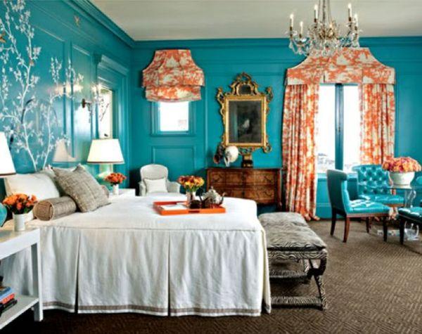 Camera Da Letto Parete Turchese : Colore parete turchese u bellissime foto