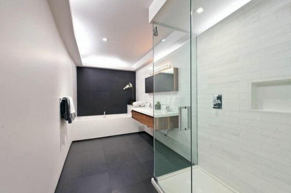 Illuminazione del bagno per il soffitto u2013 100 foto dispirazione!