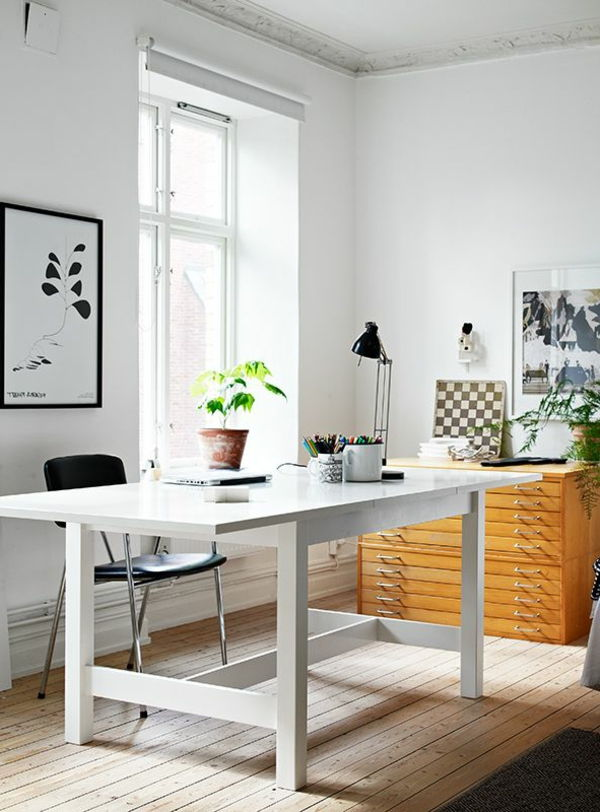 Feng-Shui-atgal į-arbeitszimmer-to-sienos - optimalus