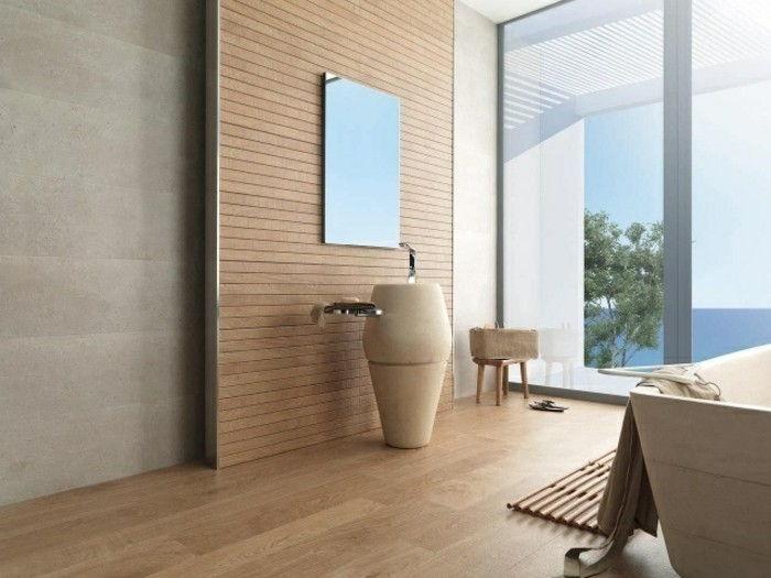 Telhas De Madeira Optic Banheiro Grande De Vidro Paredes Moderna Do  Dissipador