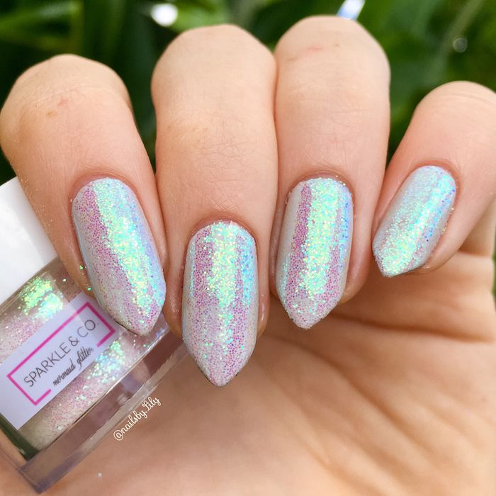 55 Geluri De Unghii Glitter Idei La Efectul De Mermaid Perfect