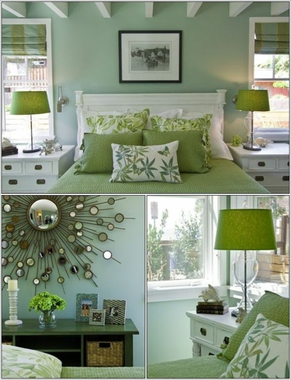 green-wall design-for-slaapkamer-cool-ontwerp