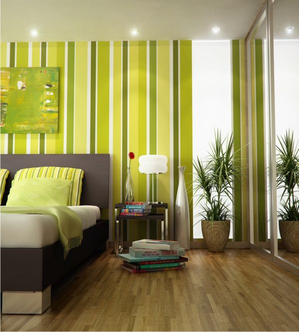 green-wall ontwerp-look for-slaapkamer-inspiring-