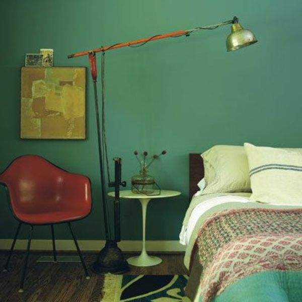 green-wall design-for-slaapkamer-interessante-lamp