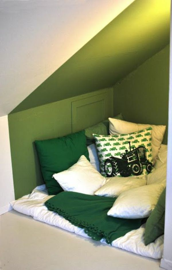 green-wall design-for-slaapkamer-interessante-look