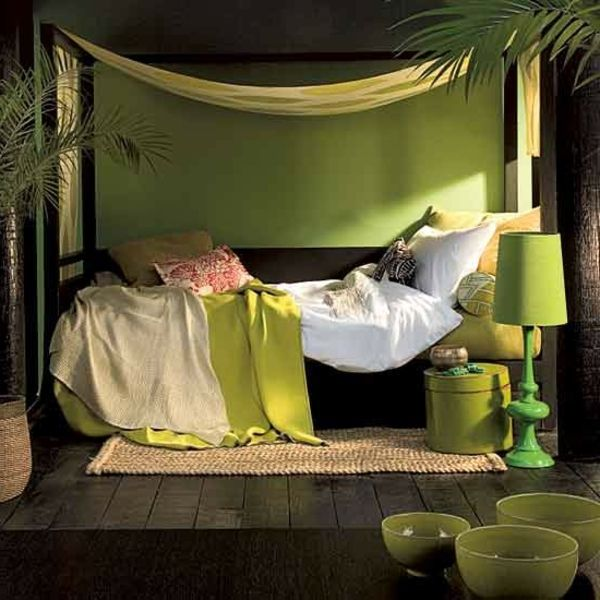 green-wall design-for-slaapkamer-modern-and-interessant