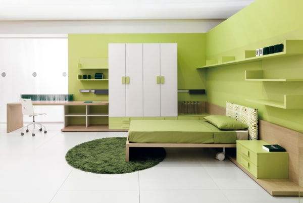 green-wall design-for-slaapkamer-modern-and-mooi