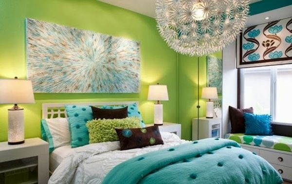 green-wall design-for-slaapkamer-erg-nice