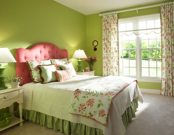 green-wall design-for-slaapkamer-traditionele Outfit
