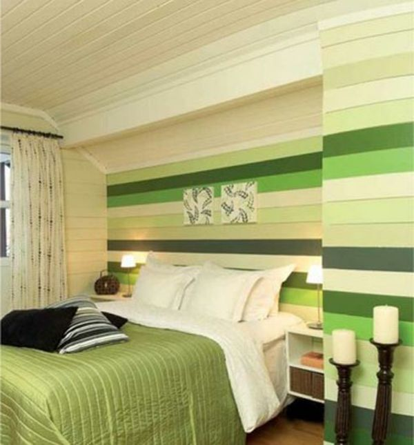 green-wall design-for-slaapkamer-different-genuanceerd