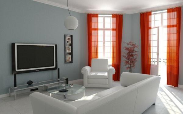 Pareti Grigie E Rosse : Dipingere il soggiorno u idee ispiratrici