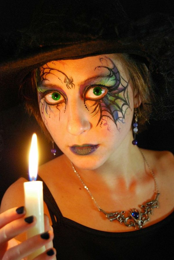 Halloween makeup idéer-witch-a-ljus